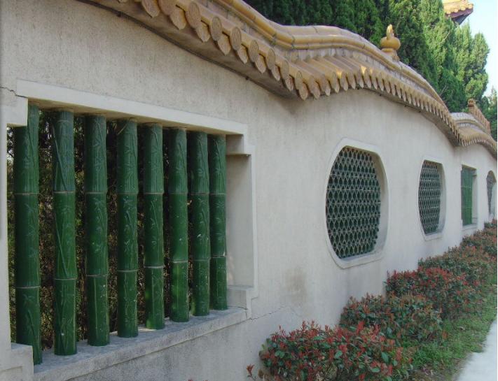 古典围墙瓦铺盖案例